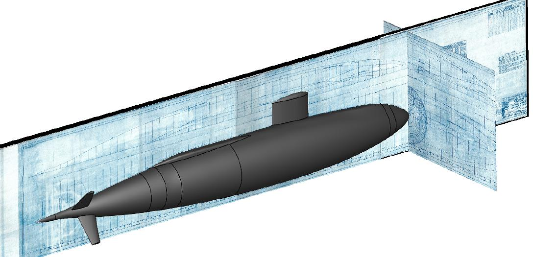 A 3D model of the USS Albacore created from the original blueprints of Albacore Phase 4