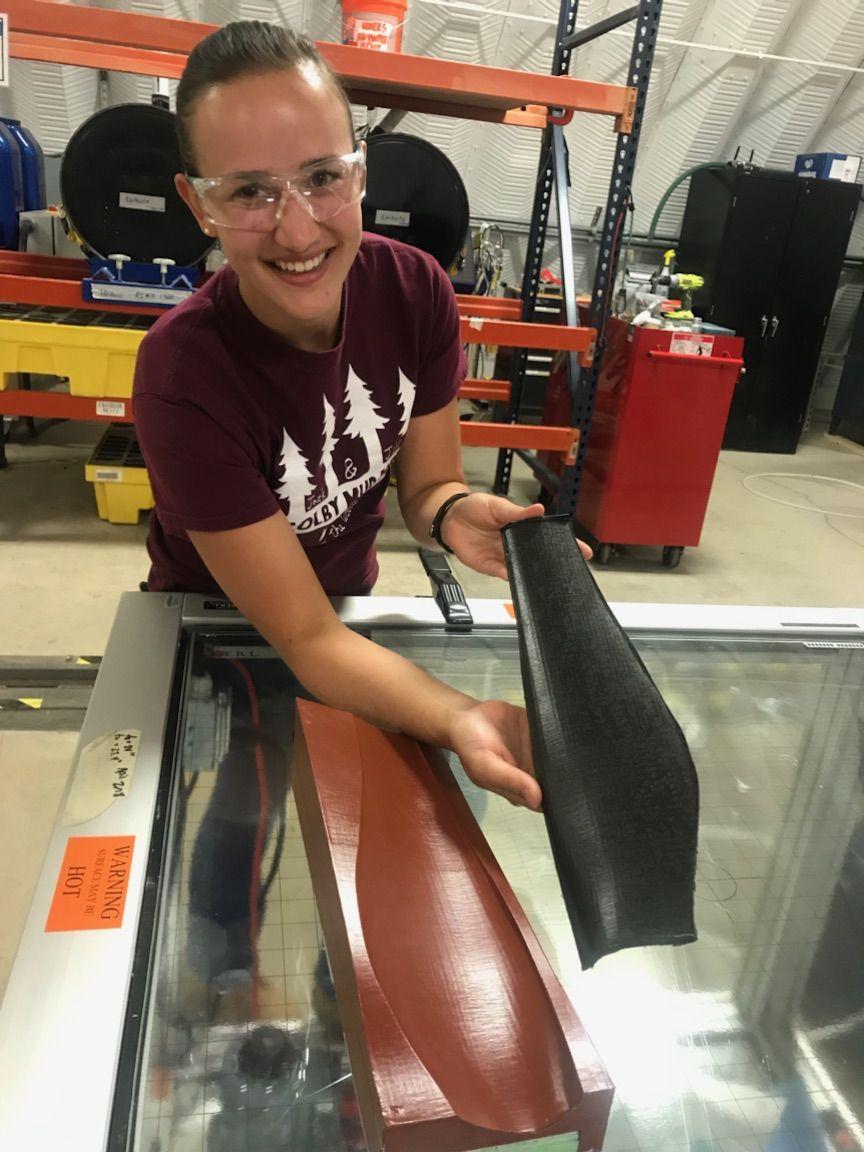 Ocean Engineering student Kate Trubac