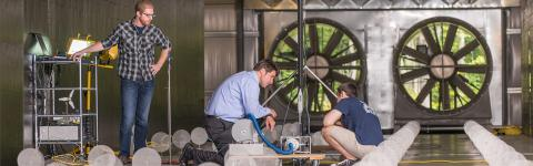 UNH research wind tunnel
