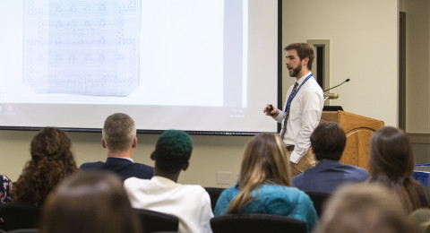 Alum giving presentation