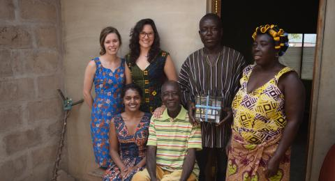 Katerina Messologitis Solar Project in Ghana, Africa