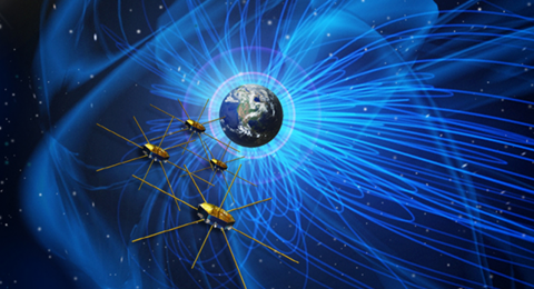 Nasa magnetospheric multiscale mission spacecraft