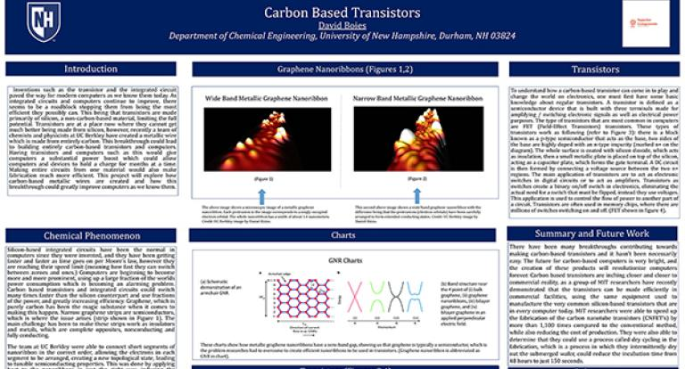 Carbon Based Transistors, David Boies