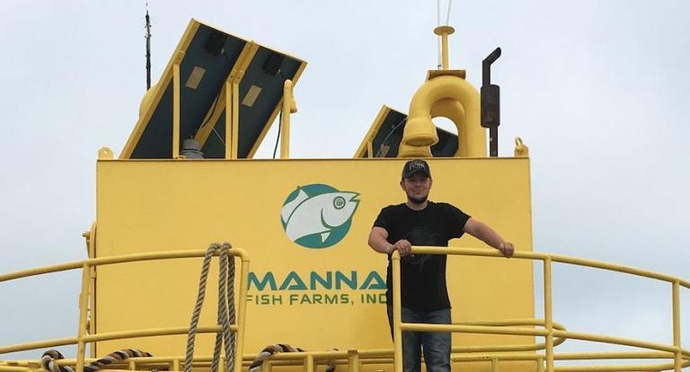 Ocean Engineering student Zach Davonski