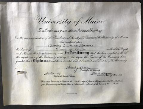 Charles Parsons, University of Maine