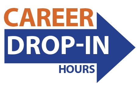 Logo that says Career Drop-in Hours